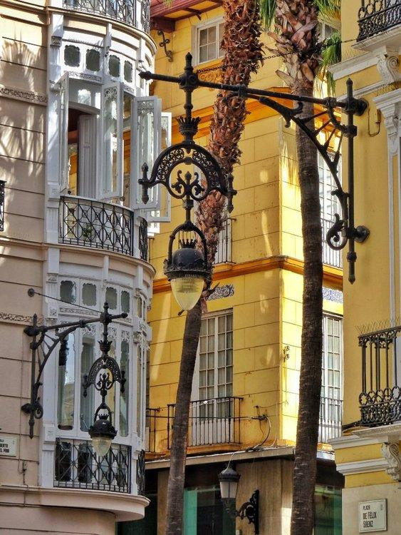 Straatje in oude centrum van Malaga