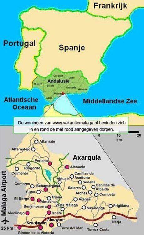 Klimaat Andalusie Kaart Axarquia Costa Del Sol