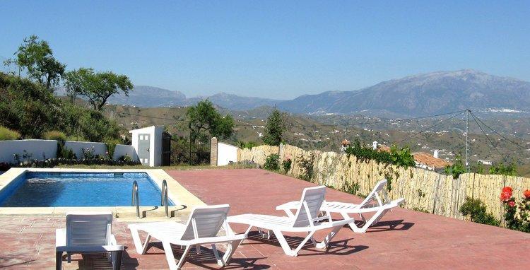 vakantiehuis in Andalusië Zuid Spanje bij de dorpen El Borge en Almachar